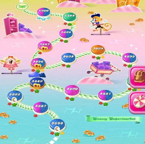 Candy Crush Saga level 5886-5900