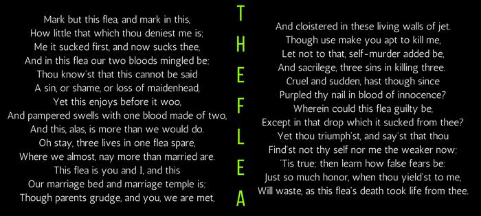 John Donne's The Flea (text)