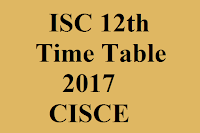 ISC Class 12th Timetable