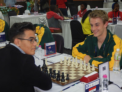 World U16 Teams Australia v Iraq 2.5-1.5 Round 4 report.