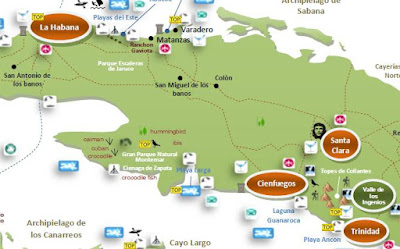 interactive travel tourist map CUBA