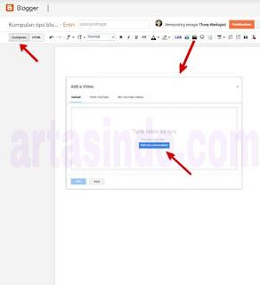 cara menambahkan video ke blog