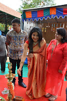 Sakshi Agarwal  in Orange Saree at Inauguration of Handloom And Handicraft exhibition ~  Exclusive 21.JPG