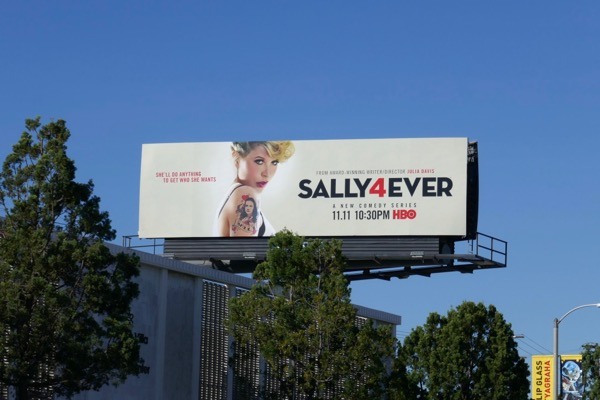 Sally4Ever series launch billboard
