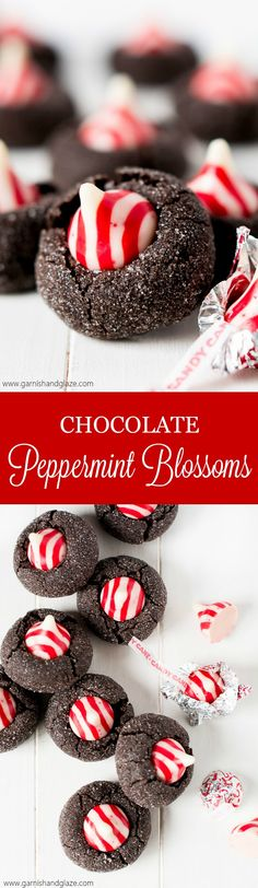 Chocolate Peppermint Blossoms Recipe