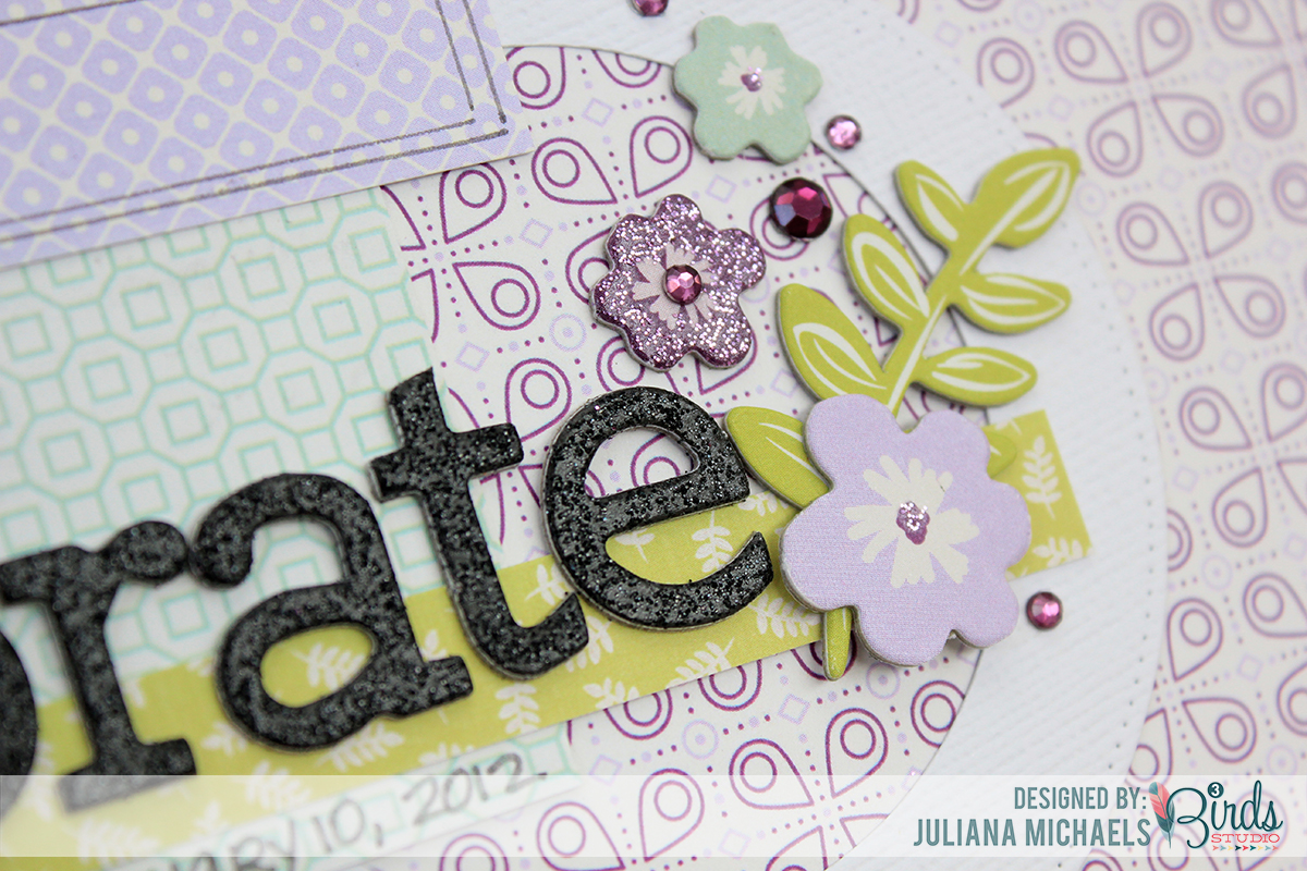 Celebrate Scrapbook Page Sneak Peek by Juliana Michaels for 3 Birds Studio