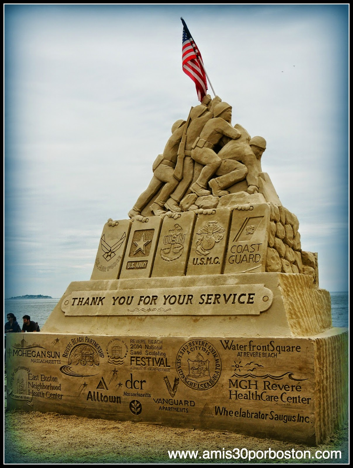 "Revere Beach 2014 National Sand Sculpting Festival: ""Thank You For Your Service"""