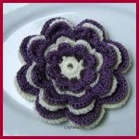 Flor multicapas a crochet