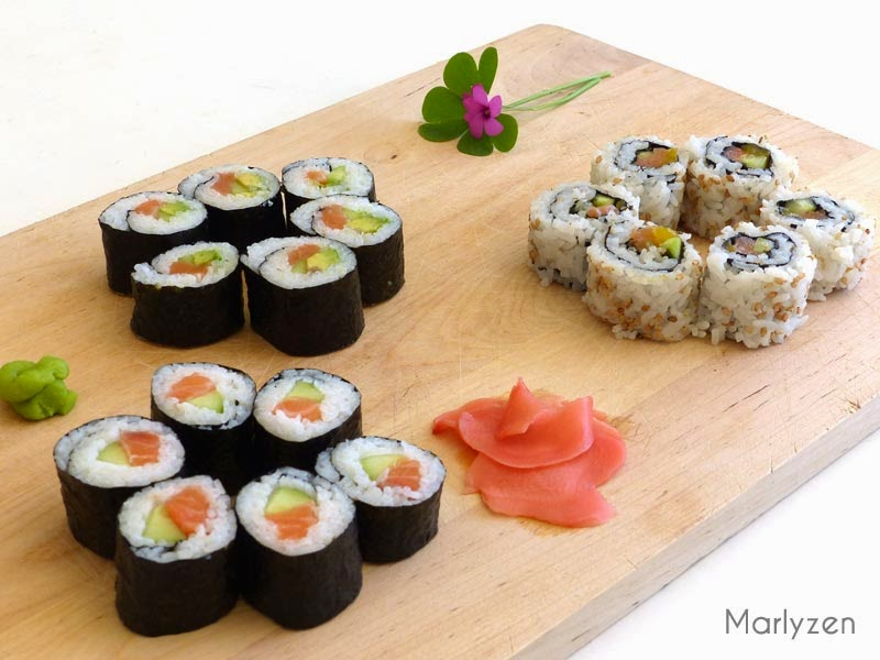 Maki et California roll.