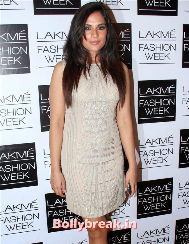 Richa Chadda, Bollywood Actresses at Manish Malhotra Show at LFW Summer Resort 2014