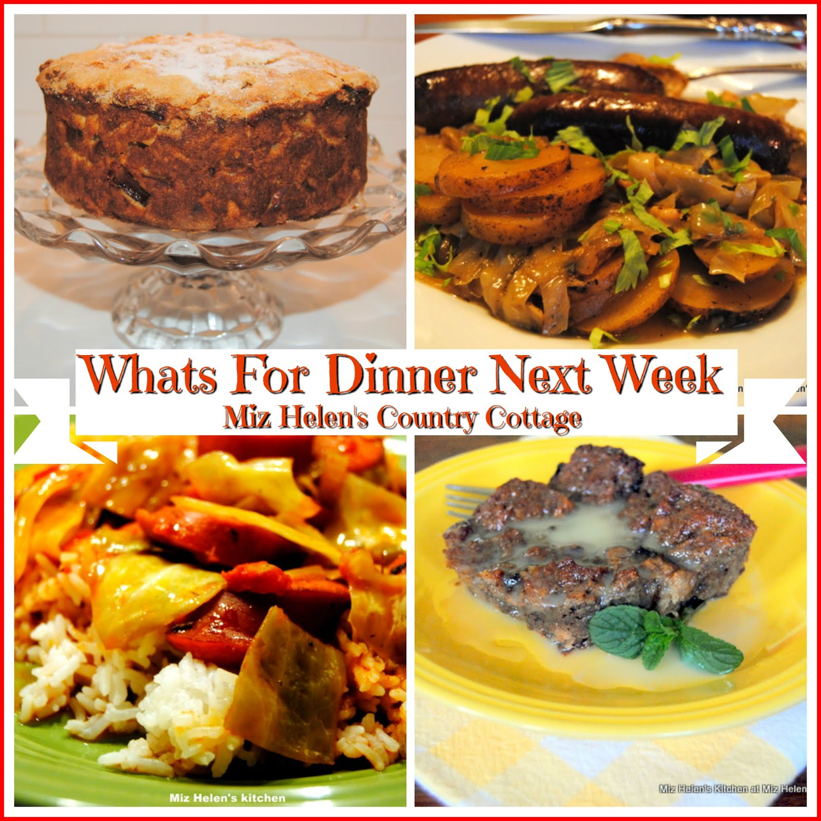 Whats For Dinner Next Week * Week of 3-17-19