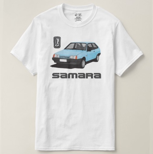 Light blue VAZ-2109 Lada Samara t-shirts