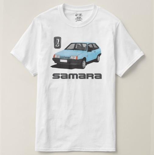 Light blue VAZ-2109 Lada Samara t-shirts