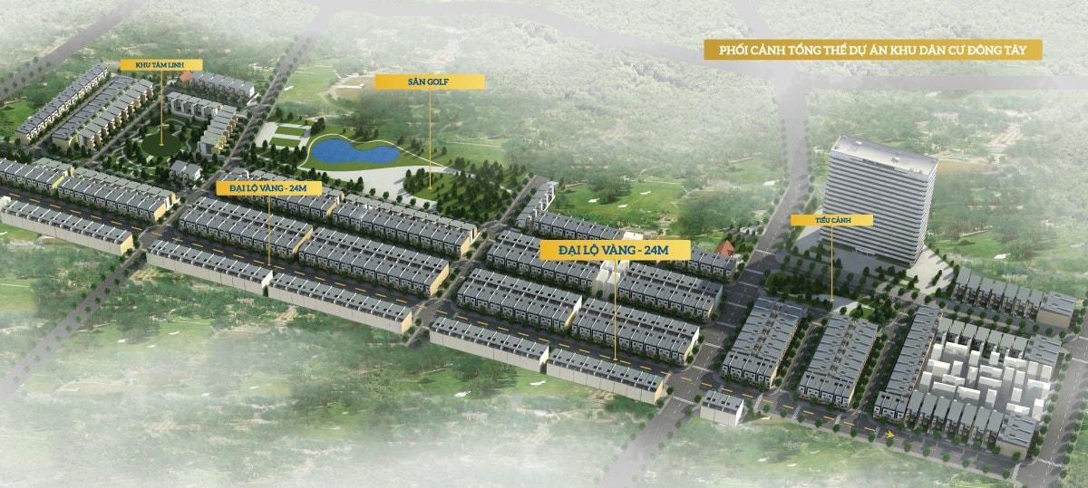 Tổng thể dự án khu dân cư Đông Tây Phổ Yên