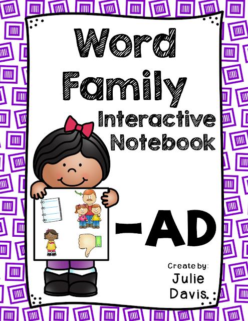 https://www.teacherspayteachers.com/Product/AD-Word-Family-Interactive-Notebook-2480170