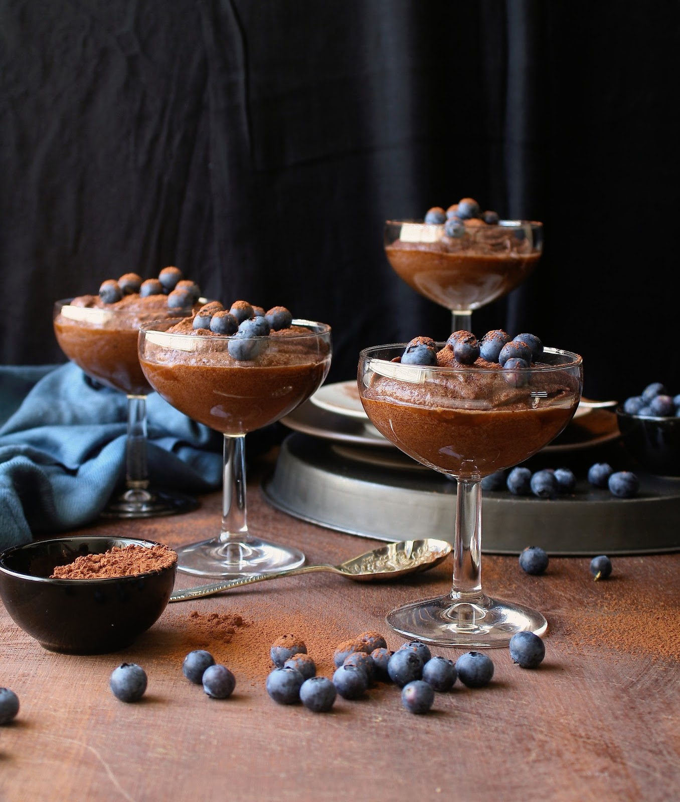 Delicious chocolate mousse that is sugar and gluten free and vegan.