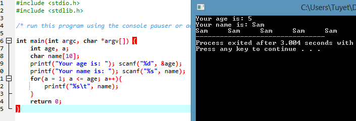 C program to print all odd numbers from 1 to n
