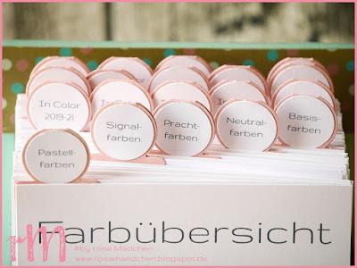 Stampin' Up! rosa Mädchen Kulmbach: Farbmusterkarten 2018 im Karteikartenformat