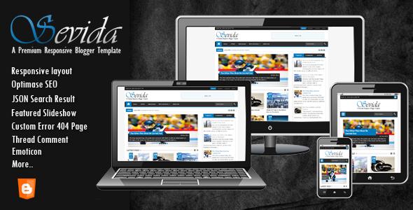 [Update] Sevida Responsive Magazine Blogger Template 2.5 Full Nguyên Gốc