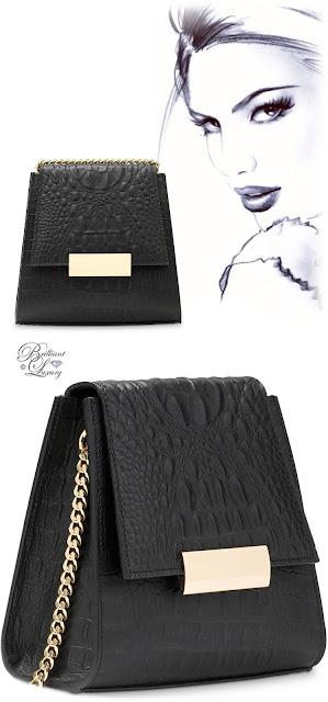Brilliant Luxury ♦ Boudoir des Lubies Paris ~ Capucine Croco Bag #noir
