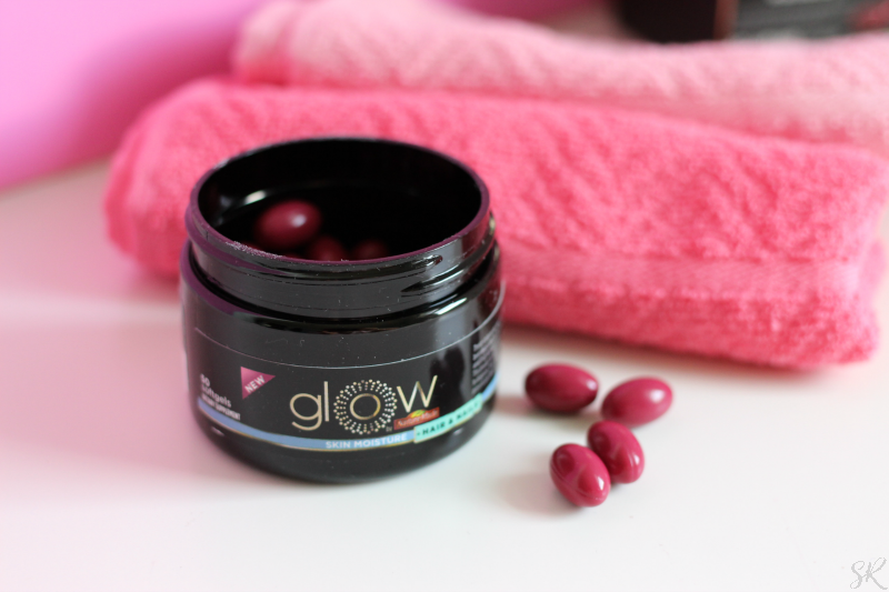Glow by Nature Made Skin Moisture Vitamins on a table