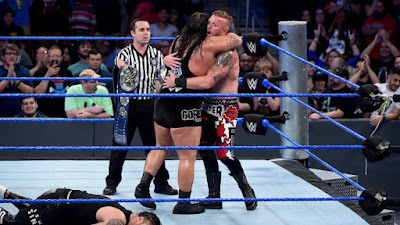 Heath Slater & Rhyno celebrating victory at backlash 2016