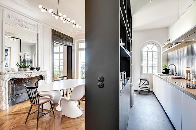 Un appartement haussmannien moderne et design blog d co - Architecte interieur paris petite surface ...