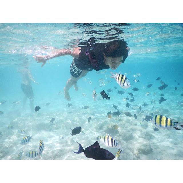 foto keindahan bawah laut pantai iboih