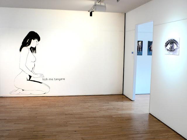 Noli me tangere, vue de l'exposition Espace Rabot réalisée in-situ, 2016