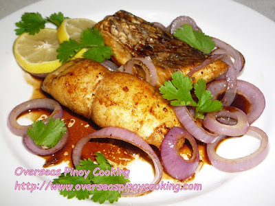 Fried Snapper Pinoy Bistek Style Dish