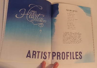 Artist profiles in Bible Journaling book