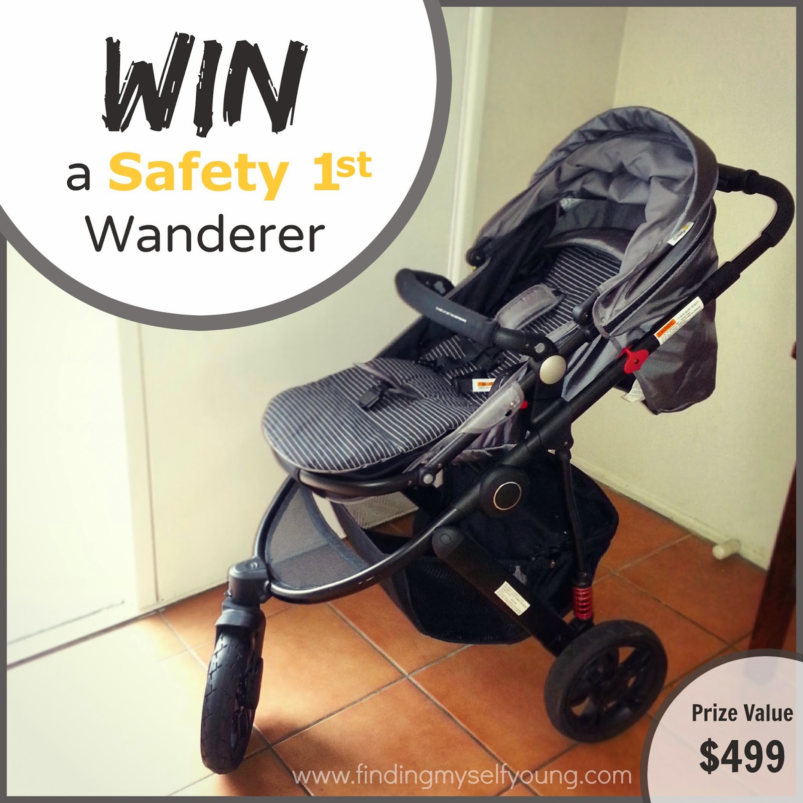 Win a safety 1st wanderer 3 wheel pram