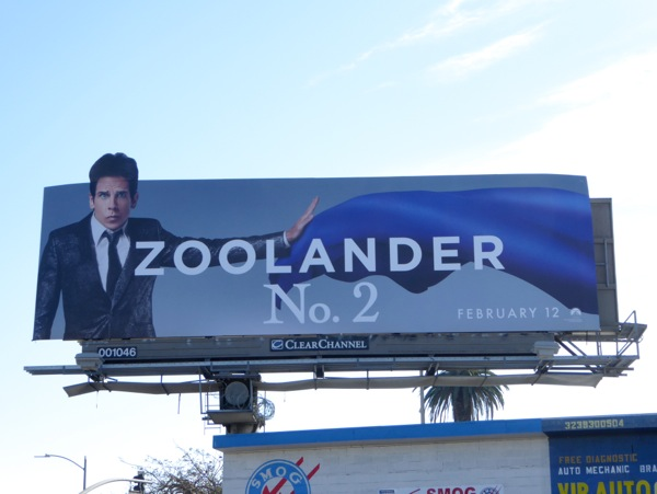 Ben Stiller Zoolander 2 movie billboard