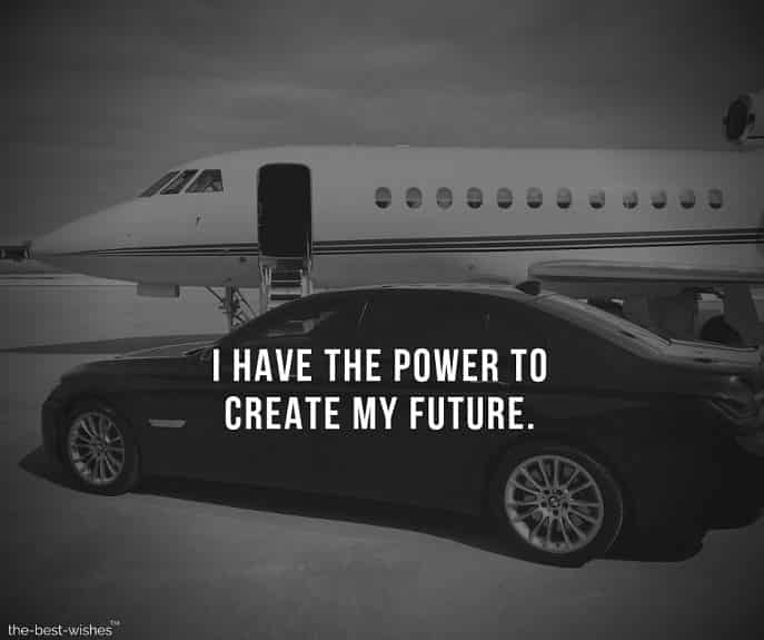 Inspirational quote about Creating your own Future.