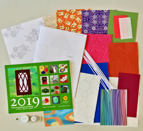 Twelve Months of Paper Calendar 2019 edition with optional supply pack