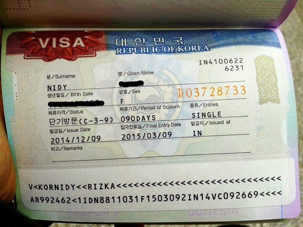 visa korea selatan yang granted