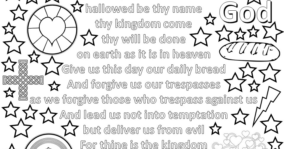 LLM Calling: Lord's Prayer Colouring Sheets #messychurch #