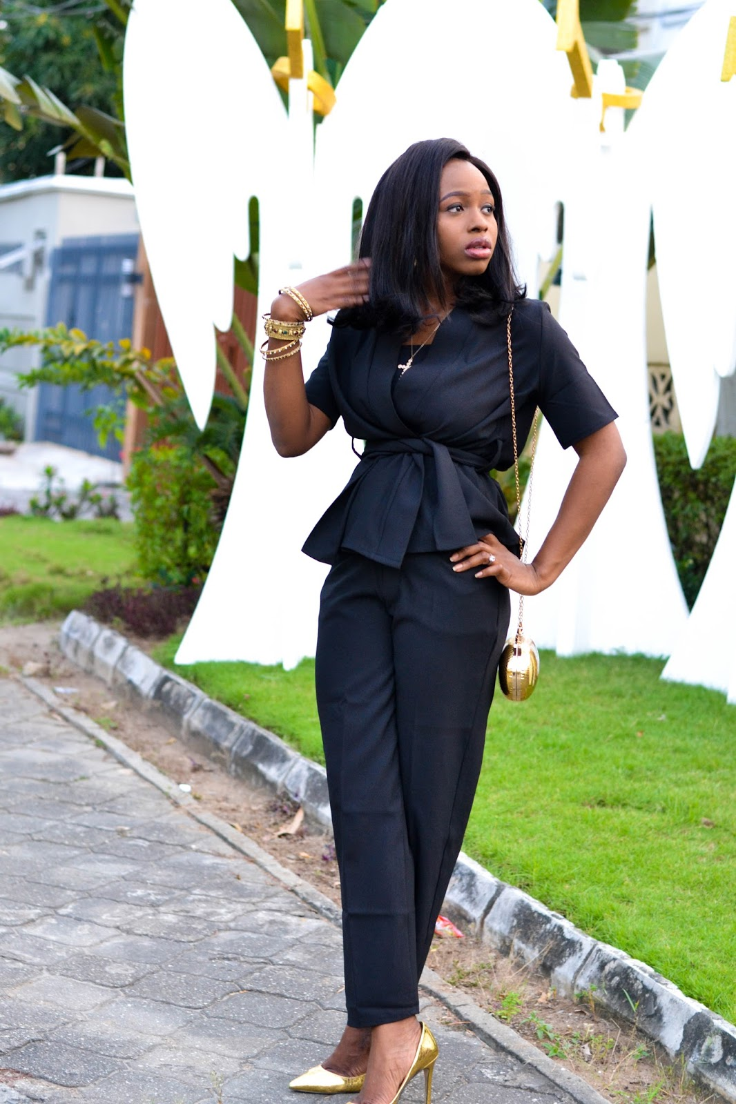 Black Trouser Suit for Ladies