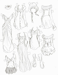 doll paper anime drawing template templates dolls clothes lacy manga sketches drawn pages cute drawings dresses missy miss getdrawings hand