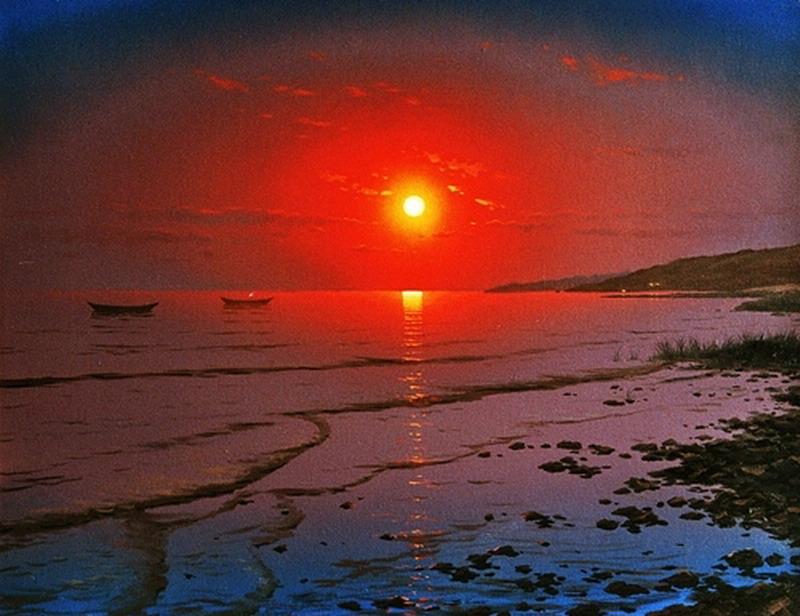 Im genes arte pinturas atardeceres en mares cuadros realistas - Cuadros de atardeceres ...