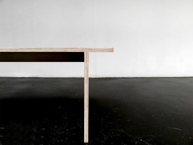 AH HA Andres Gonzalez Gil banco contrachapado plywood bench multiplex furniture