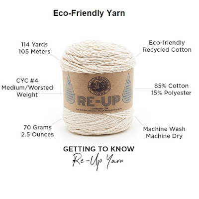 Lion Brand Re Up Recycled Eco Friendly Cotton Yarn