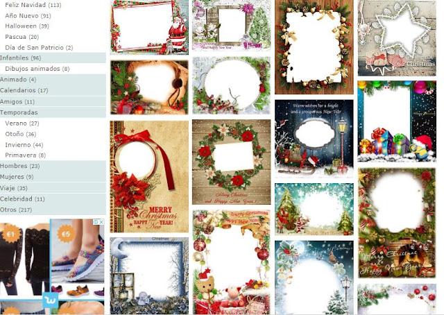 Generador Marcos de Navidad y adornos para tus fotos