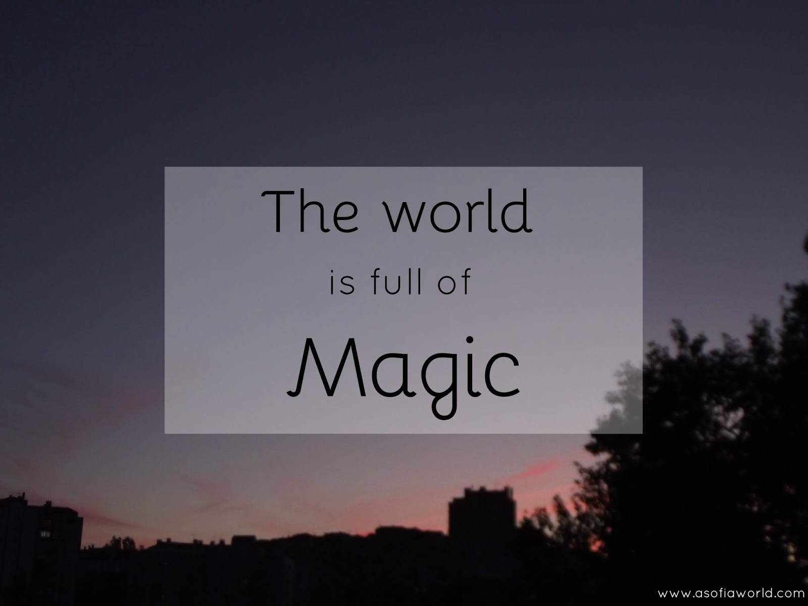 The world is full of magic: One Tree Hill inspiration for another week. www.asofiaworld.com
