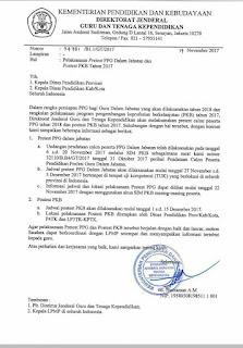 Jadwal Pre Test PPG dalam Jabatan (PPGJ 2018) pengumuman hasil ukg pretes ppgj