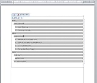 cara membuat daftar isi di word 2007 - 2010 otomatis