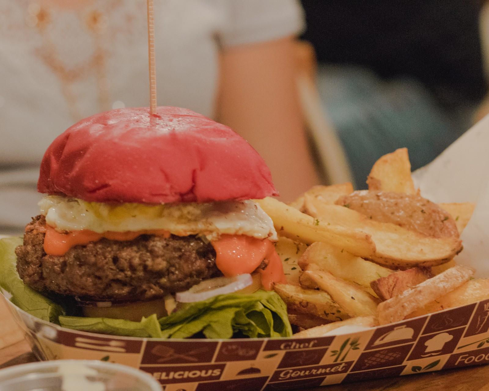 hamburguer deadpool vermelho