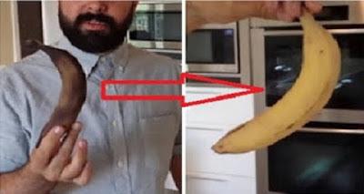 شاهد |  إسترجع لون الموز من الأسود الى الأصفر في لحظات . طريقة مجربة و فعالة 100 %