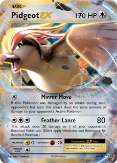 Pidgeot EX XY Evolutions Pokemon Card