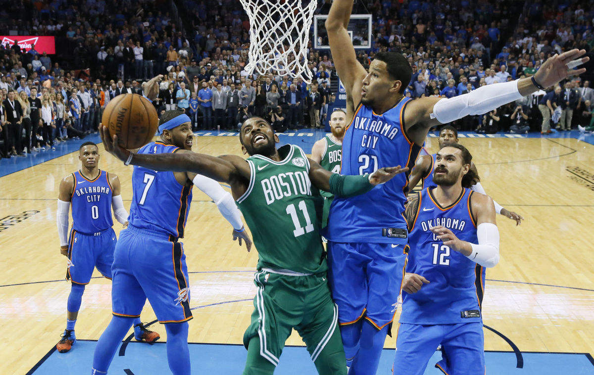 Kyrie Irving Al Horford Come Alive Late To Secure The Win Over Thunder